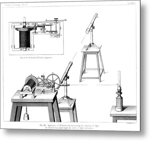 Measuring The Speed Of Light Metal Print by Royal Astronomical Society/science Photo Library