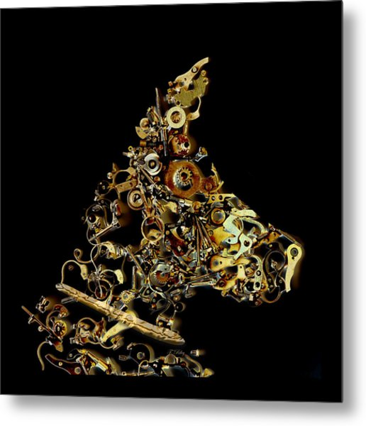 Mechanical - Dog Metal Print
