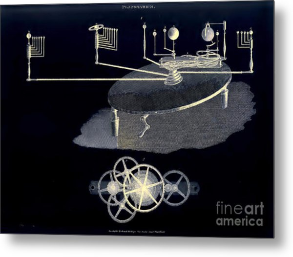 Mechanical Planetarium Circa 1807 Metal Print by Unknown