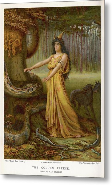 Medea, Daughter Of Aeetes King Metal Print by Mary Evans Picture Library