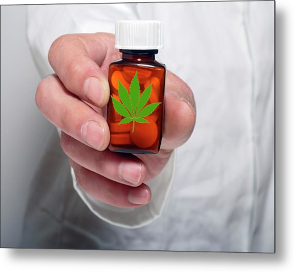 Medicinal Marijuana Metal Print by Victor De Schwanberg