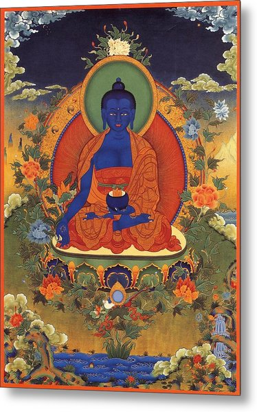 Medicine Buddha 8 Metal Print