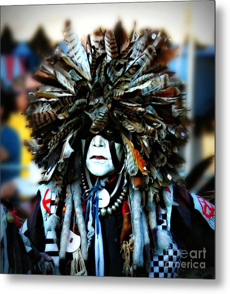 Medicine Man Headdress Metal Print by Scarlett Images Photography