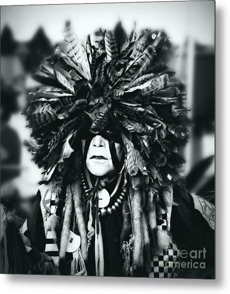 Medicine Man Silver Screen Metal Print by Scarlett Images Photography