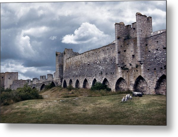 Medieval City Wall Defence Metal Print