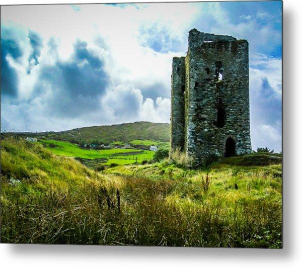 Medieval Dunmanus Castle On Ireland's Mizen Peninsula Metal Print