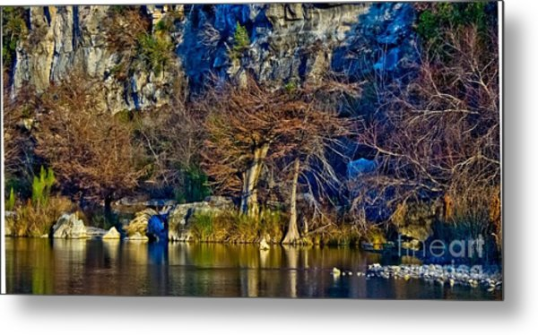 Medina River At Comanche Cliffs Metal Print