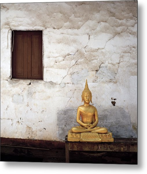 Meditation In Laos Metal Print