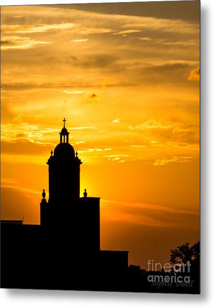 Meditative Sunset Metal Print