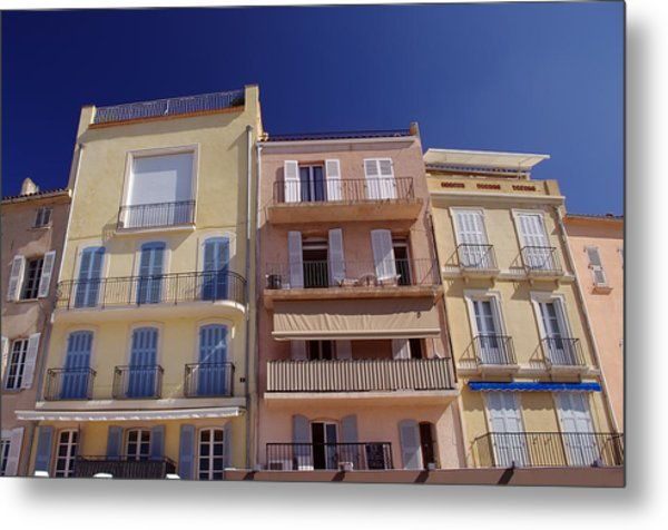 Mediterranean Coastline Appartments Metal Print by Ioan Panaite