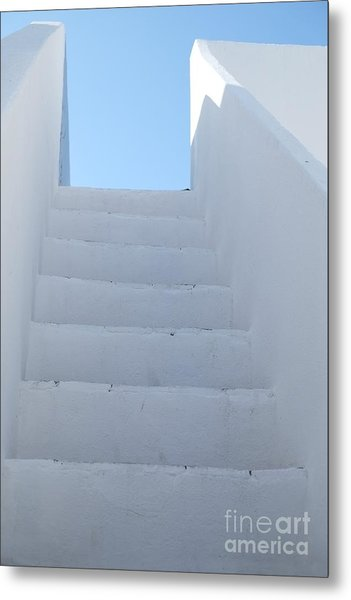 Mediterranean Staircase Metal Print