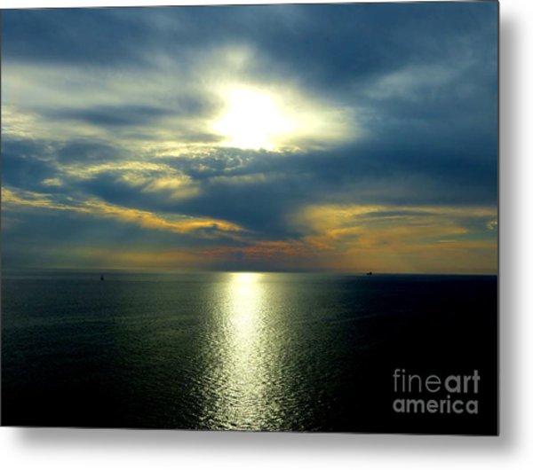Mediterranean Sunset Metal Print