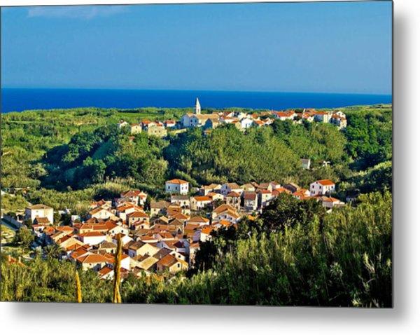 Mediterranean Town Of Susak Croatia Metal Print