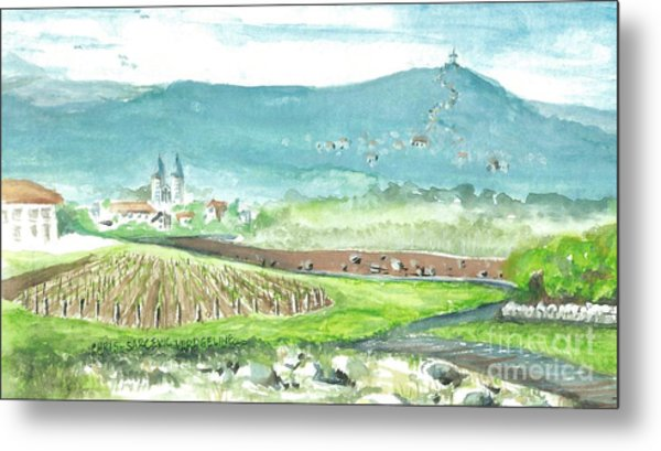 Medjugorje Fields Metal Print