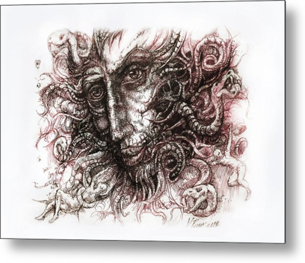 Medusa Metal Print by Vladimir Petrov