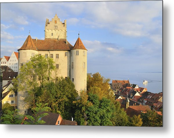 Meersburg Castle And Town Germany Metal Print by Matthias Hauser