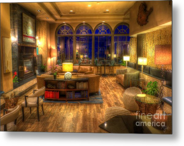 Meet Me In The Lobby Metal Print