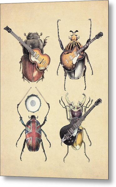 Meet The Beetles Metal Print