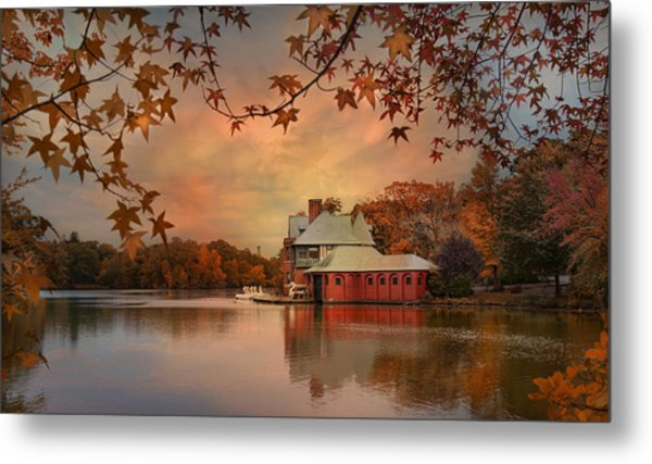 Meeting At The Lodge Metal Print by Robin-Lee Vieira