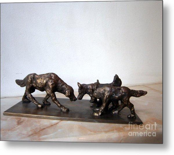 Meeting Of The Dogs Metal Print by Nikola Litchkov