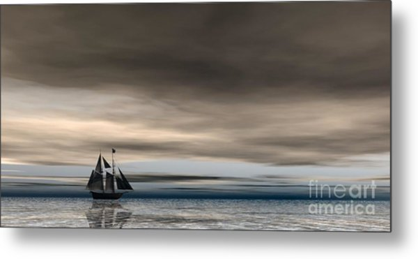 Melancholy Waters Metal Print