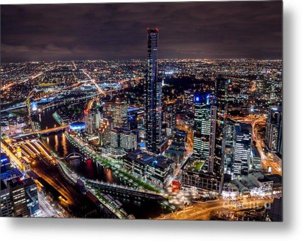Melbourne At Night IIi Metal Print