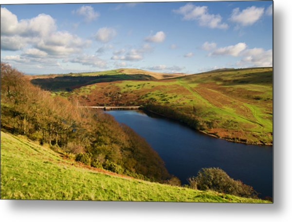 Meldon Reservoir On Dartmoor Metal Print