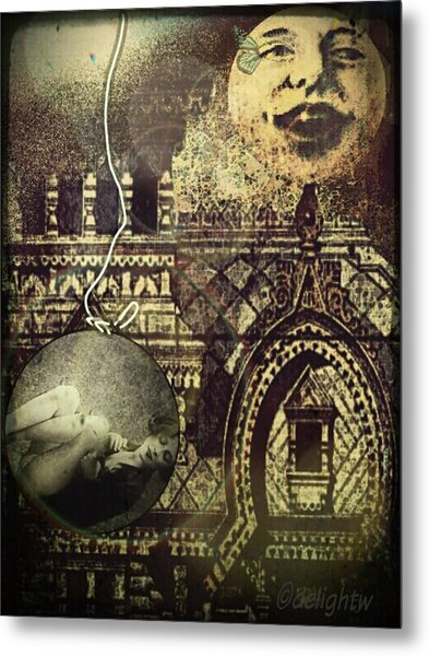 Metal Print featuring the digital art Melies Man In The Moon by Delight Worthyn
