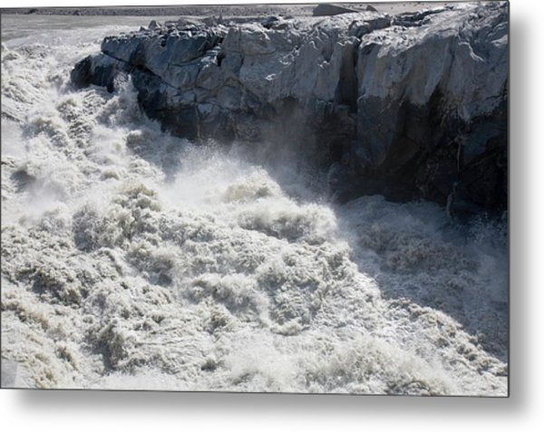 Meltwater From The Russell Glacier Metal Print