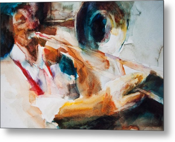 Metal Print featuring the painting Member Of The Band by Jani Freimann