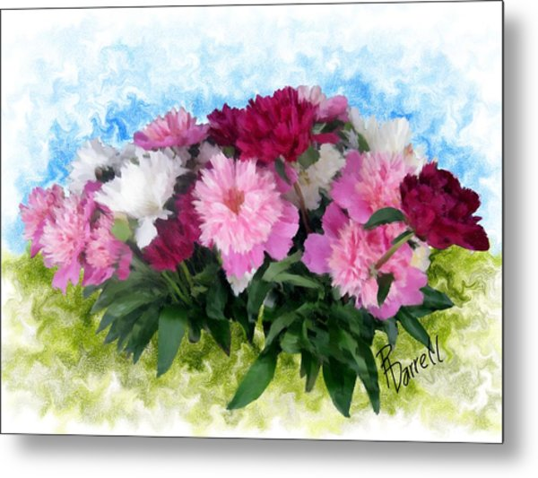 Memorial Day Peonies Metal Print