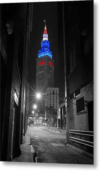 Memorial Day Terminal Tower In Cleveland Metal Print