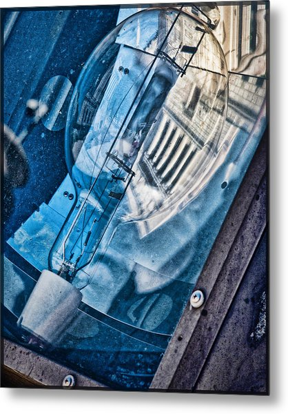 Metal Print featuring the photograph Memorial Reflection by Kristi Swift