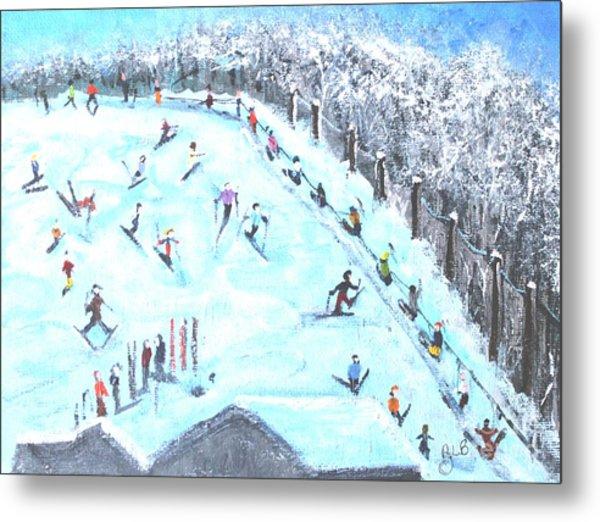 Memories Of Skiing Metal Print