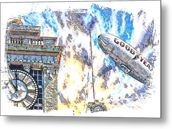 Memories Of The Hindenburg Metal Print by Ken Evans