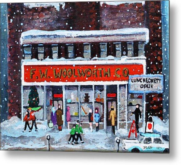 Memories Of Winter At Woolworth's Metal Print