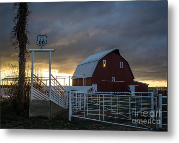 Memories On The Mother Road Metal Print