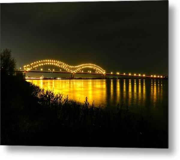 Memphis - Hernando De Soto Bridge 001 Metal Print