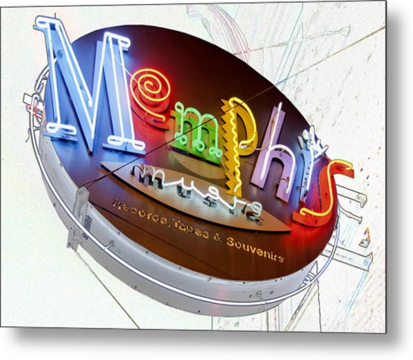 Memphis Sign Metal Print