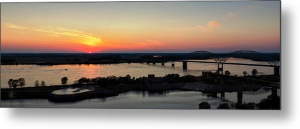 Memphis Sunset On The Mississippi 002 Metal Print by Lance Vaughn