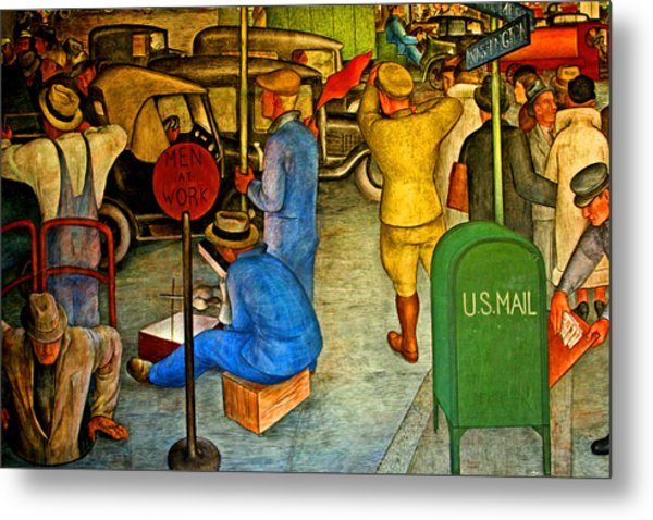 Men At Work Metal Print