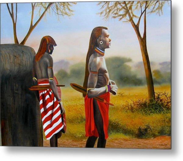 Men Of The Maasai Metal Print