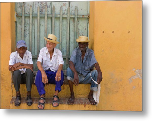Men On The Street, Trinidad, Cuba Metal Print