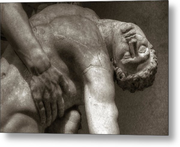 Menelaus Supporting The Body Of Patroclus Metal Print