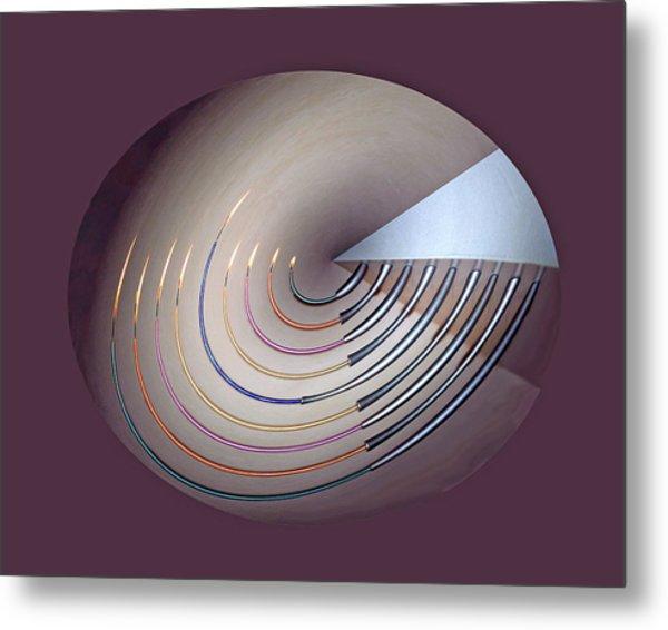 Menorah Series 9a Metal Print