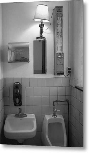 Mens Room Metal Print