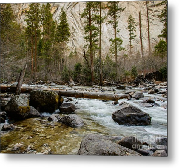 Merced River From Happy Isles 2 Metal Print