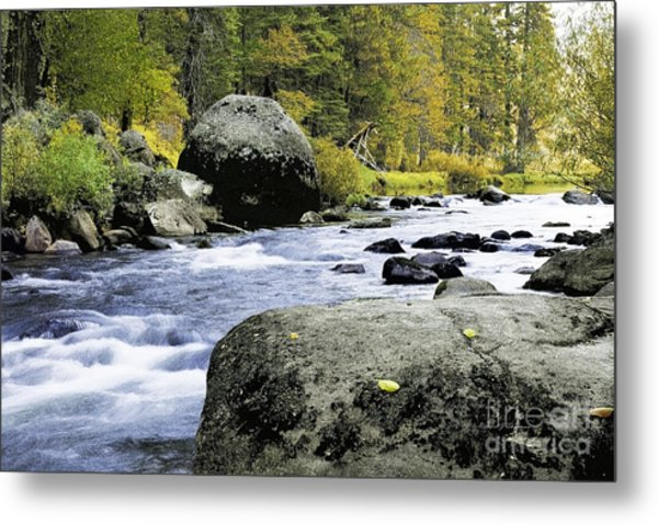 Merced River In Yosemite Metal Print