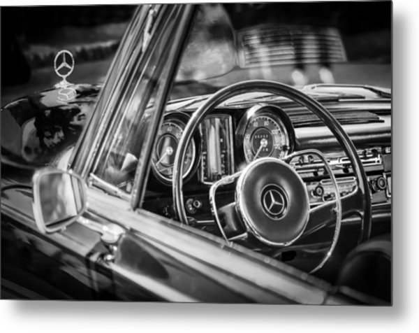Mercedes-benz 250 Se Steering Wheel Emblem Metal Print