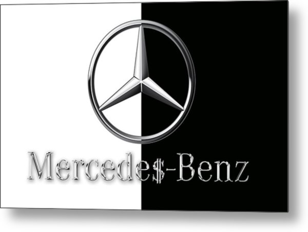 Mercedes-benz Logo Metal Print